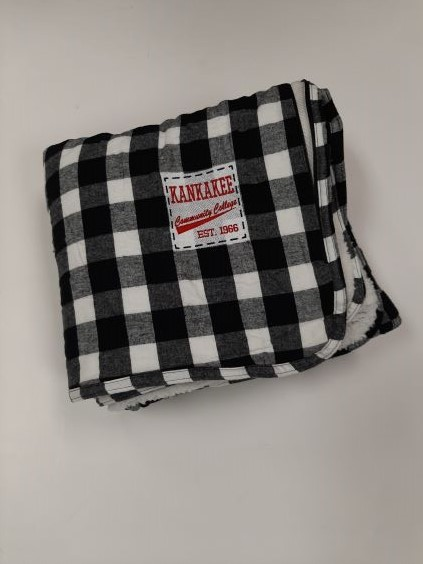 Image For BLANKET, BUFFALO CHECK, BLACK/WHITE