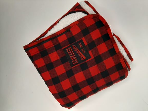 Image For BLANKET, BUFFALO CHECK, RED/BLACK